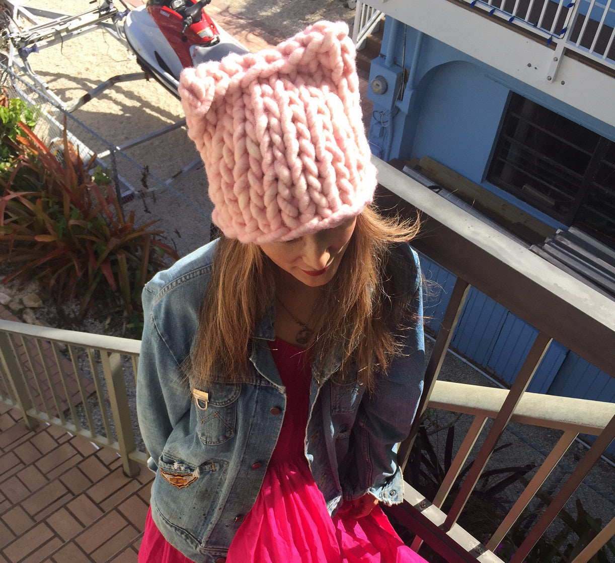 Big Loop Kitty Hat - Support the Women's March on Washington!