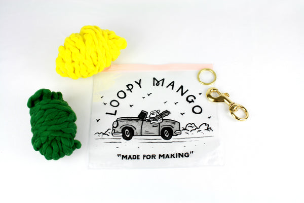 Two Pom Pom Keychain DIY Kit