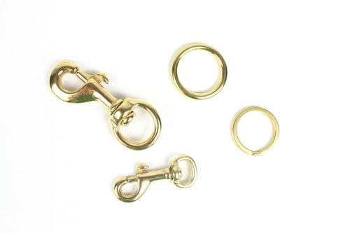 Brass Hardware - Snap Hooks & Rings