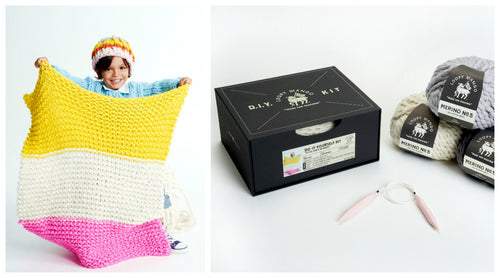 DIY Box Kit - Little One's Blanket - Merino No. 5