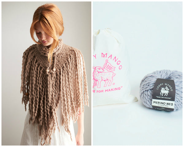 DIY Kit - Little Triangle Fringe Bandana - Merino No. 5