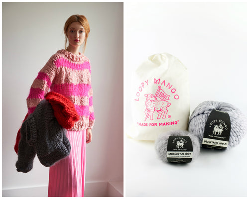 DIY Kit - Meri-Mohair Sweater - Merino No. 5 and Mohair So Soft