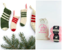 Load image into Gallery viewer, DIY Kit - Christmas Stocking Ornaments - Dream (Merino Worsted)