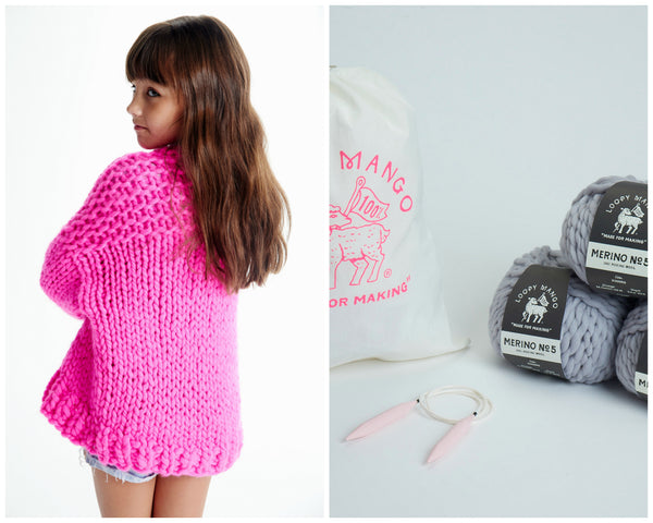 b20356f6e10 DIY Kit - Mini Cardi 6-8 years - Merino No. 5