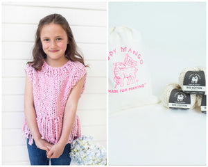 DIY Kit - Mini Tank Top with Fringe - Big Cotton
