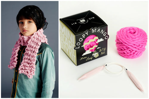 DIY Box Kit - Mini Scarf 1-8 years old - Merino No. 5