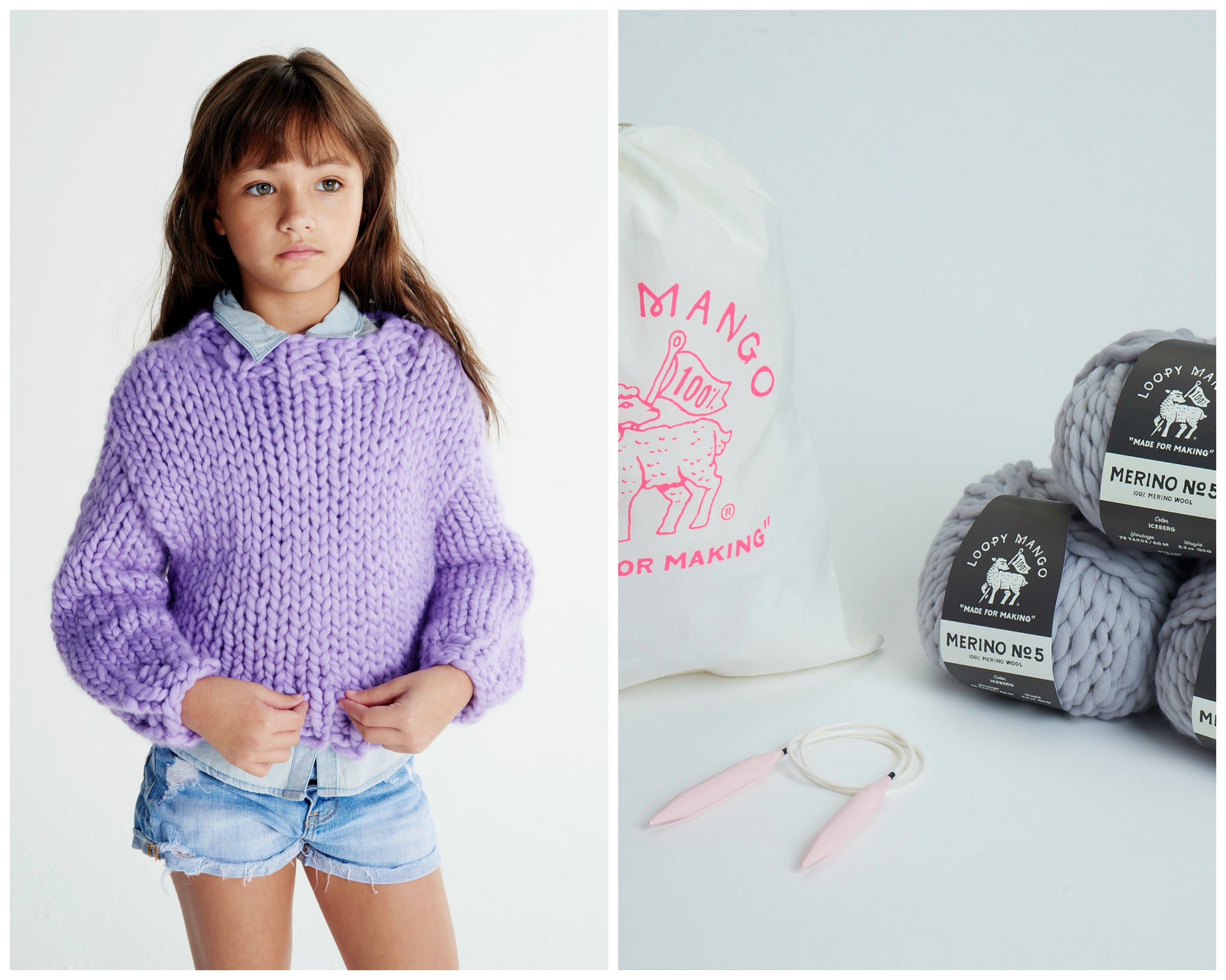 DIY Kit - Mini Sweater 6-8 years  - Merino No. 5