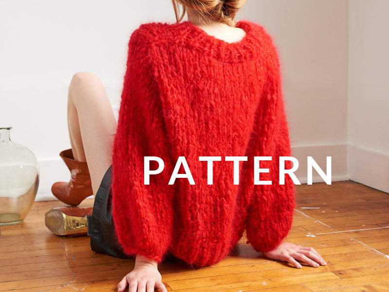 Mohair Sweater PATTERN- Mohair So Soft