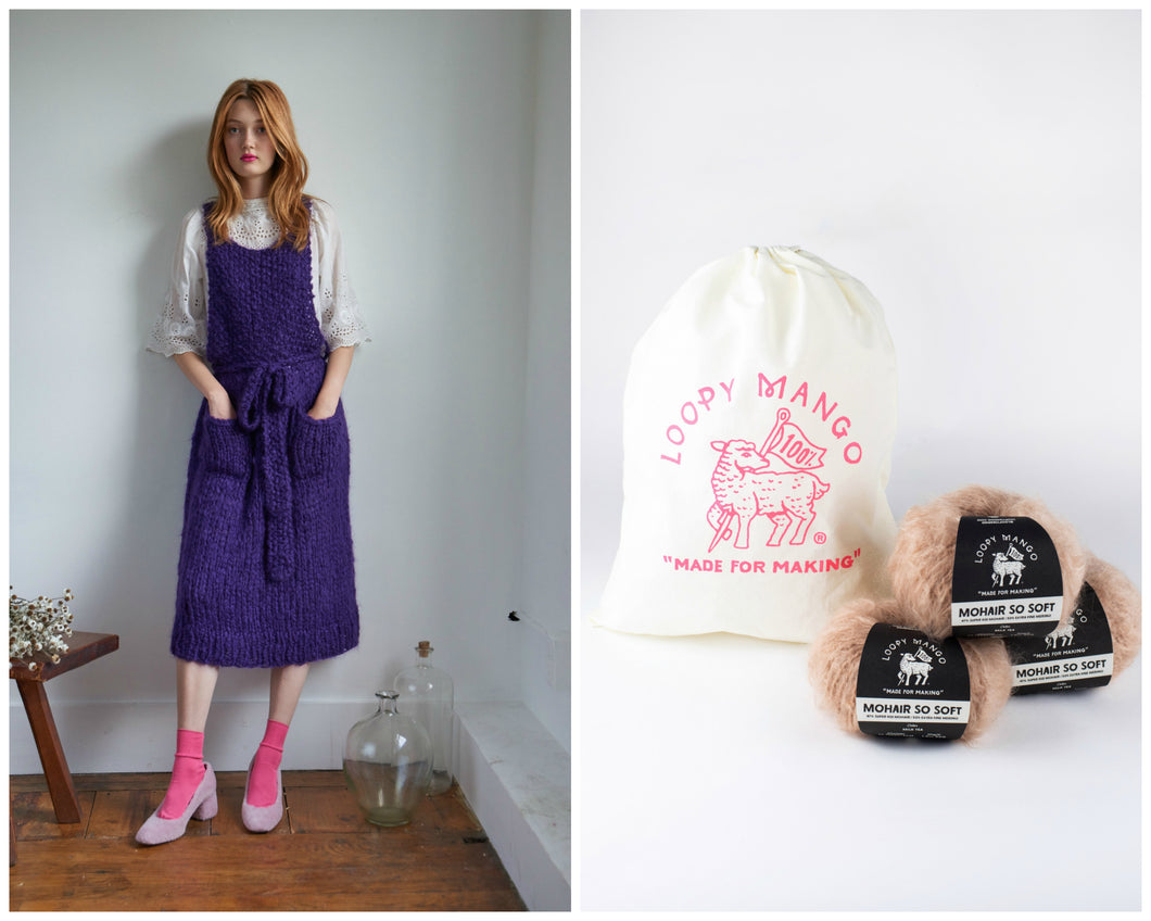 DIY Kit - Apron Dress - Mohair So Soft