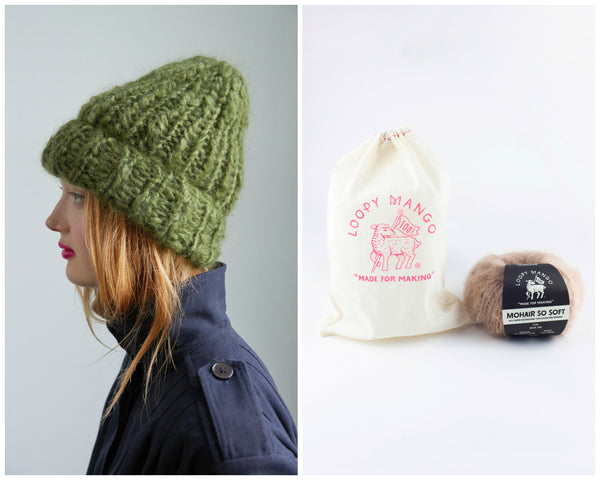 DIY Kit - Beanie - Mohair So Soft