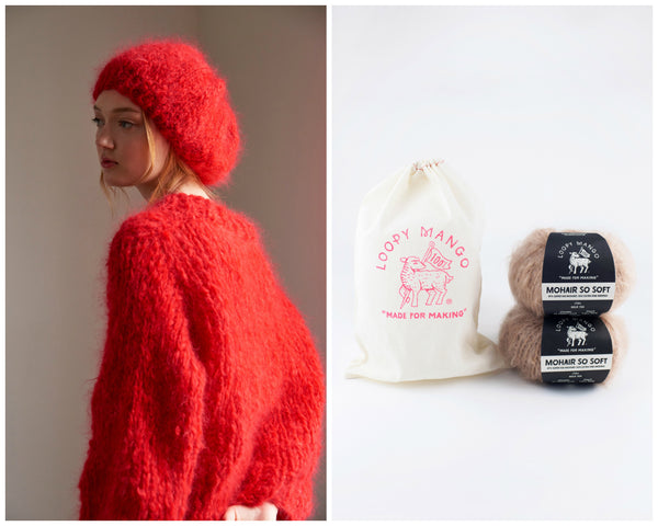 DIY Kit - Beret - Mohair So Soft