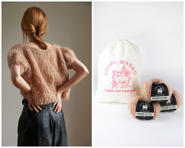 DIY Kit - Puff Sleeve Top - Mohair So Soft