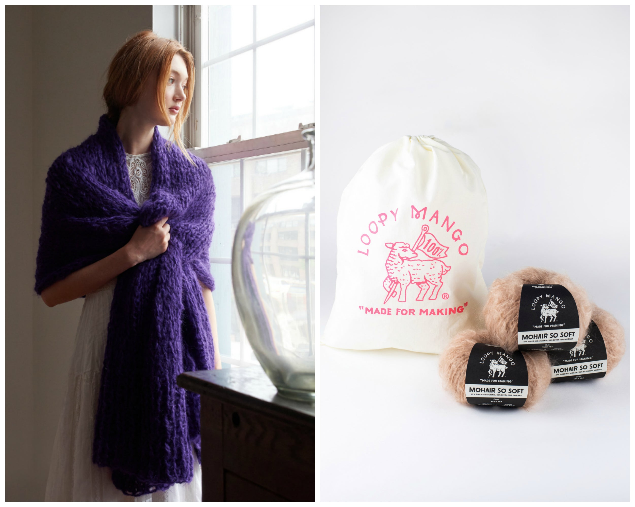 DIY Kit - Wrap - Mohair So Soft