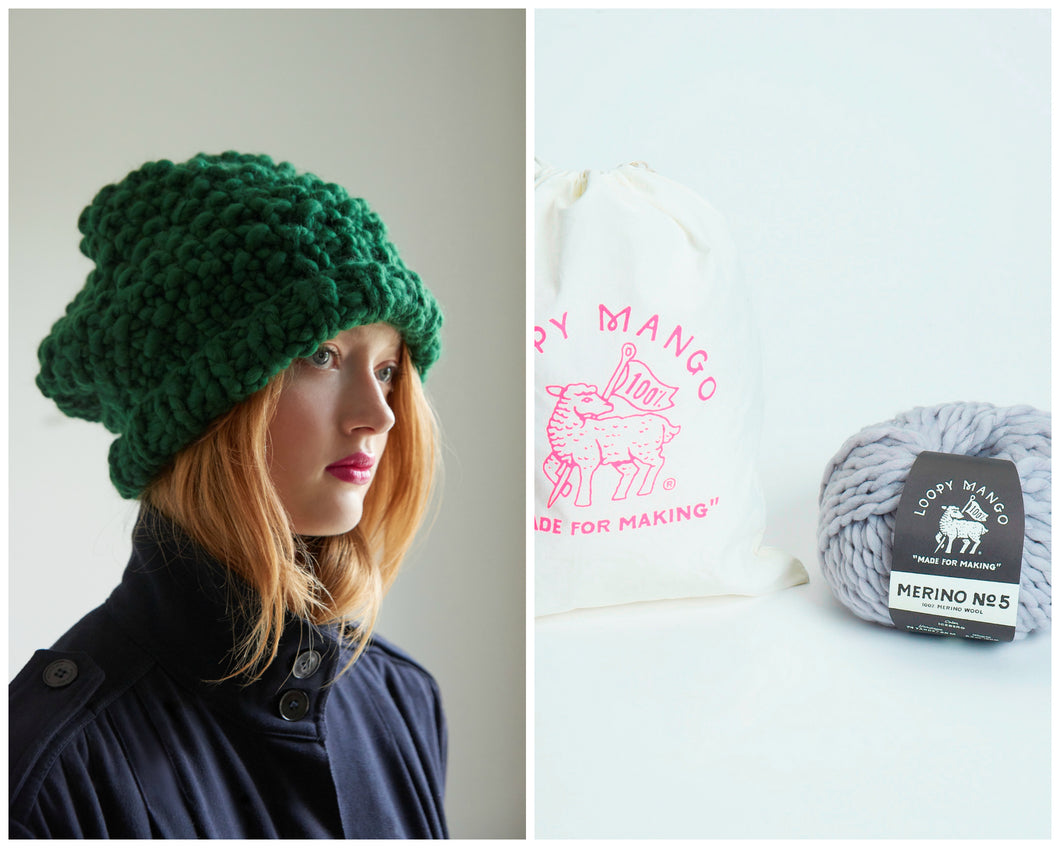 DIY Kit - Moss Stitch Beanie - Merino No. 5