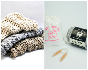 DIY Kit - Nantucket Throw 28'' x 40'' (70 cm x 100 cm) - Big Loop