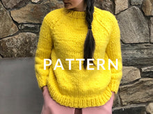 Load image into Gallery viewer, The Artist Sweater Monochrome PATTERN- Dream (Merino Worsted)