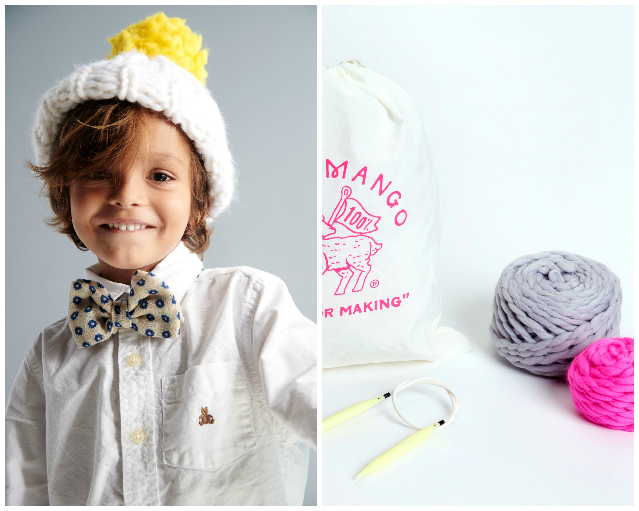 694eae92a0e DIY Kit - Mini Pompom Beanie 2-4 years - Merino No. 5