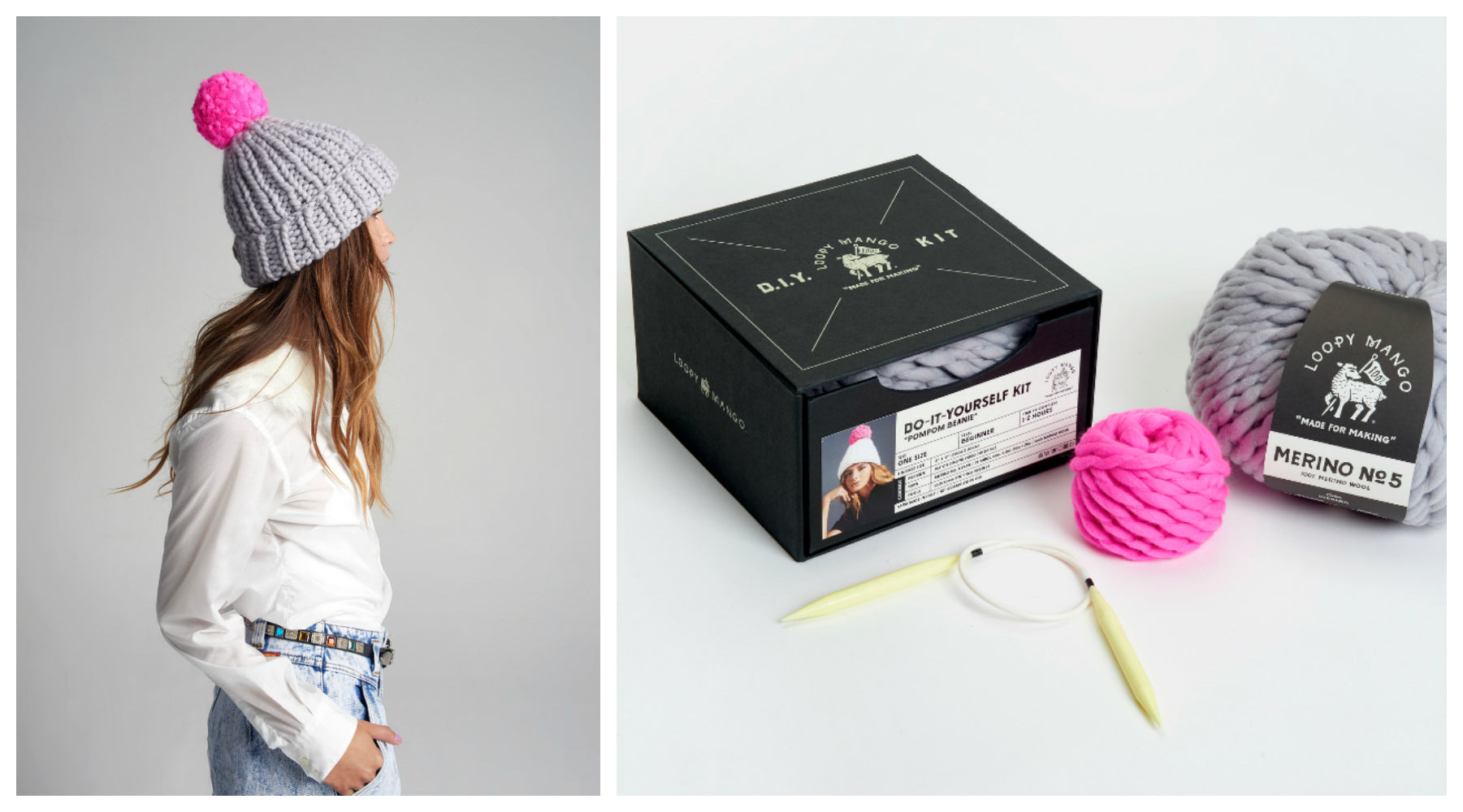 DIY Box Kit - Pom Pom Beanie - Merino No. 5