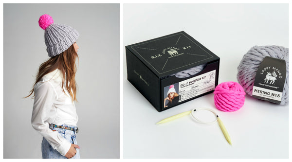 DIY Box Kit - Pompom Beanie - Merino No. 5