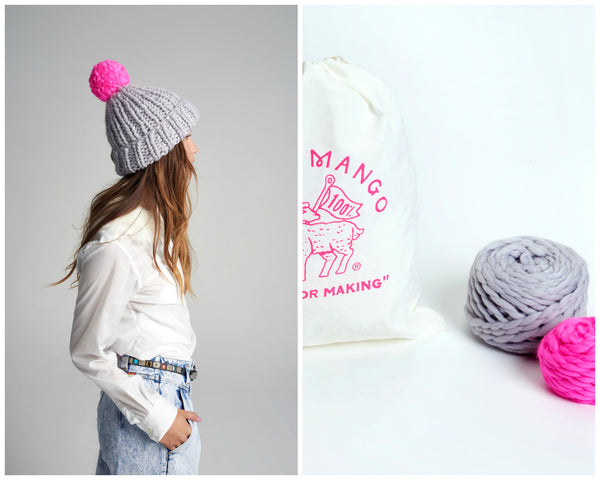 11c2be4a07e DIY Kit - Pompom Beanie - Merino No. 5