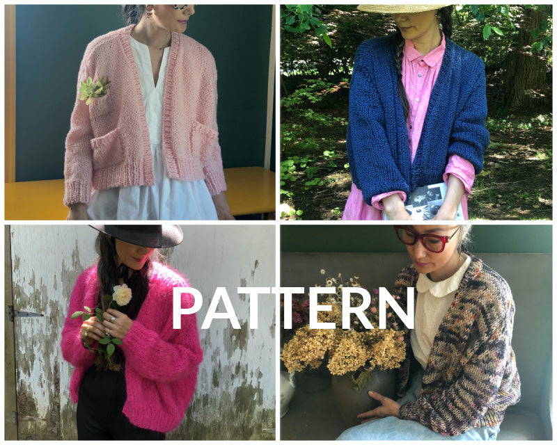 Rhinebeck Cardigan PATTERNS - All 4 Patterns