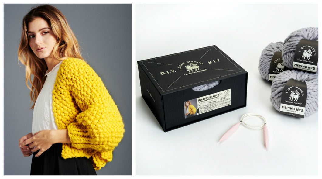 DIY Box Kit - Super Cropped Cardigan - Merino No. 5