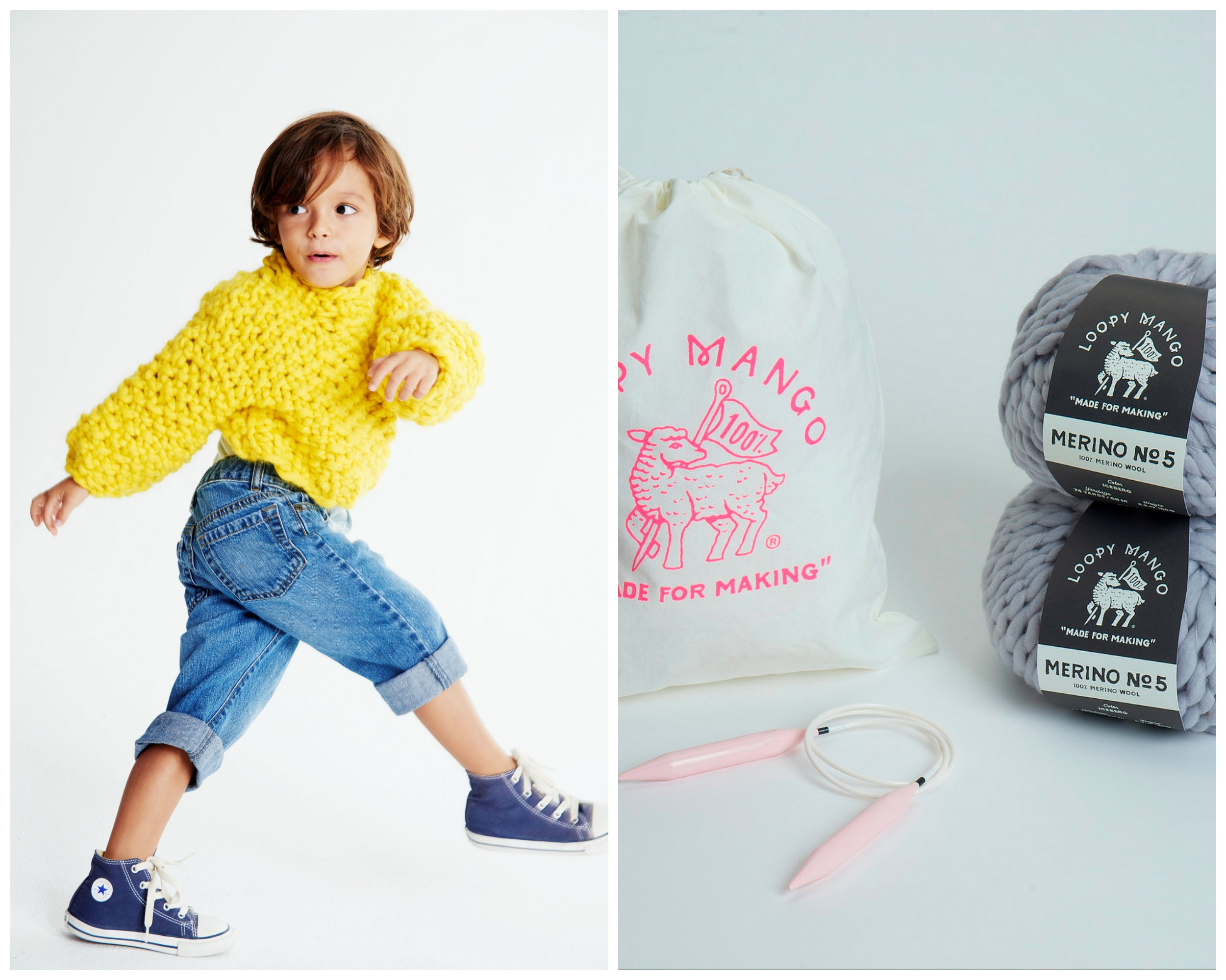 DIY Kit - Mini Cropped Sweater 2-4 years - Merino No. 5