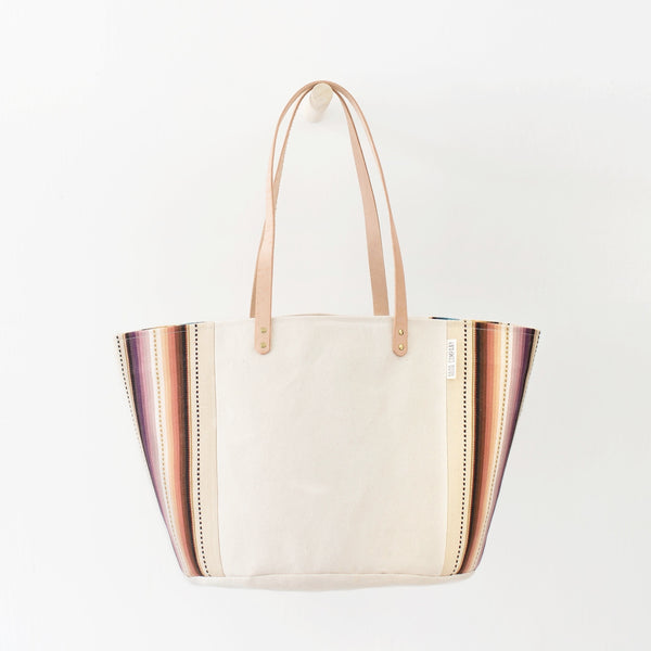 Good Company Canvas Tote - Tan Stripes
