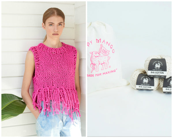 DIY Kit - Tank Top with Fringe - Big Cotton