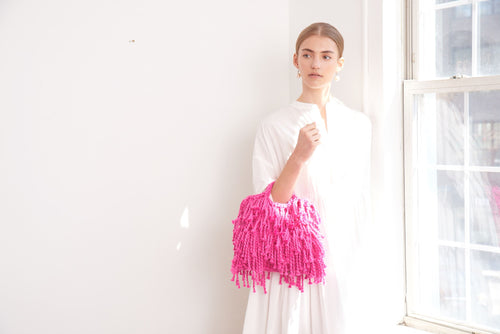 Mini Market Fringe Bag - Cotton