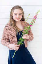 Load image into Gallery viewer, Mini Cropped Cardigan PATTERN- Big Cotton