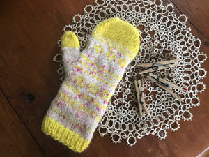 DIY Kit - Nordic Night Mittens - Dream (Merino Worsted)