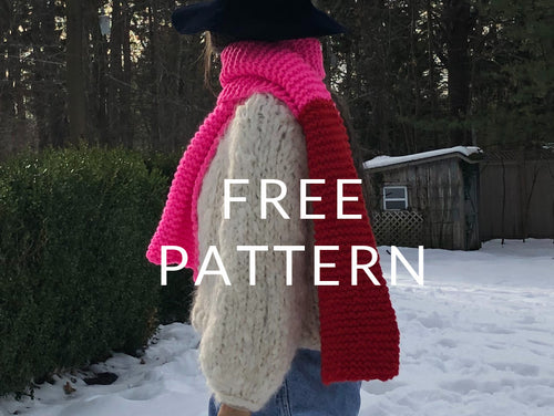 FREE Color Block Scarf - PATTERN- Dream (Merino Worsted)