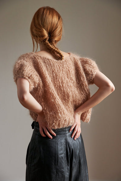 Puff Sleeve Top - Mohair