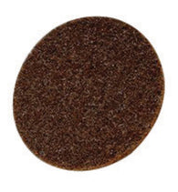 "3M 3"" X No Hole Coarse Grade Aluminum Oxide Scotch-Brite Roloc Brown TS Non-Woven Surface Conditioning Disc-Price is per 100 Each"