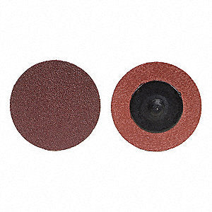 "Merit 3"" Coated Quick Change Disc - 60 Grit - Medium - Aluminum Oxide"