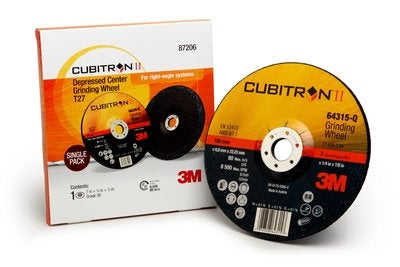 3M Cubitron II Type Q Ceramic Depressed Center Grinding Wheel - Airgas Outlet