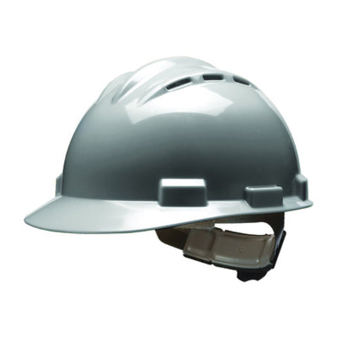 Bullard Gray HDPE Hard Hat With 4 Point Ratchet Suspension