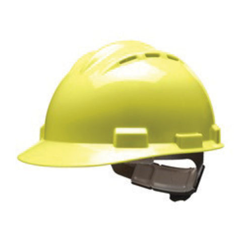 Bullard Yellow HDPE Hard Hat With 4 Point Ratchet Suspension