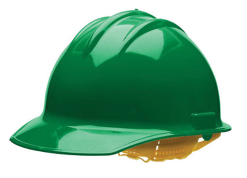 Bullard Green HDPE Hard Hat With 6 Point Pinlock Suspension