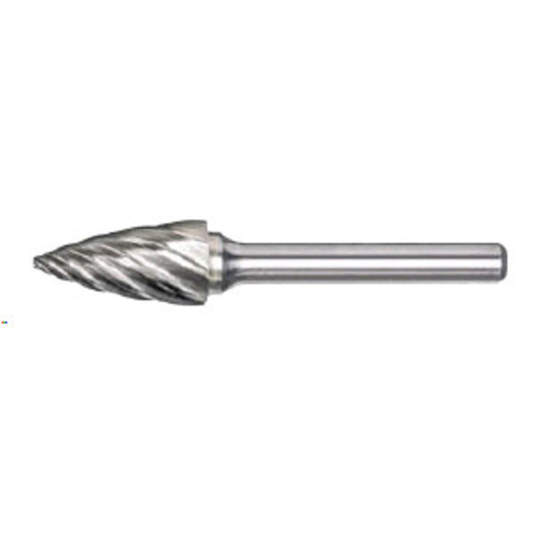 "Radnor SG-41FM 1/8"" X 1/4"" Pointed Tree Shape Aluminum Cut Carbide Burr"