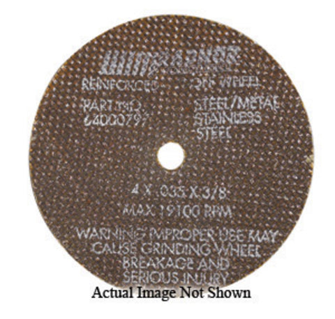 "RADNOR® 4"" X .035"" X 5/8"" Aluminum Oxide Type 1 Cut Off Wheel   -Price is per 1 Each"