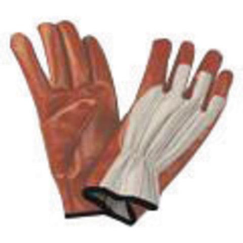 North® by Honeywell Large Worknit® Heavy Weight Black Nitrile Palm And Finger Coated Work Gloves With Cotton Liner And Slip-On Cuff