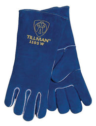 Tillman Ladies Large Blue Shoulder Split Cowhide Left Hand Only Stick Welders Glove