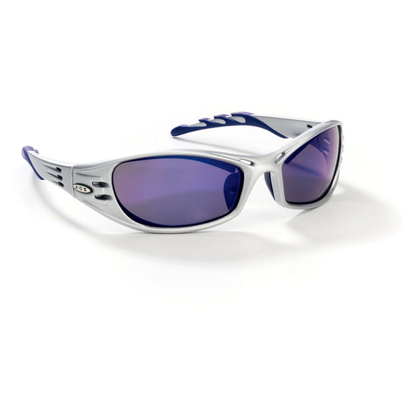 3M Fuel Silver Frame Safety Glasses With Blue Mirror Anti-Scratch Lens   -Price is per 10 Each