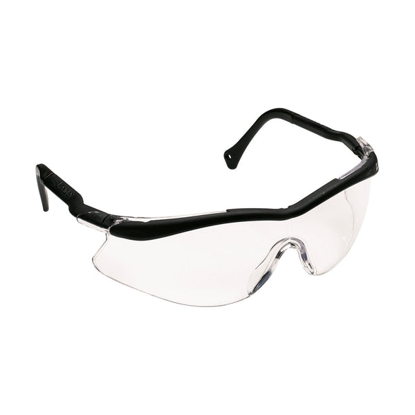 3M QX Black Frame Safety Glasses With Clear Anti-Fog