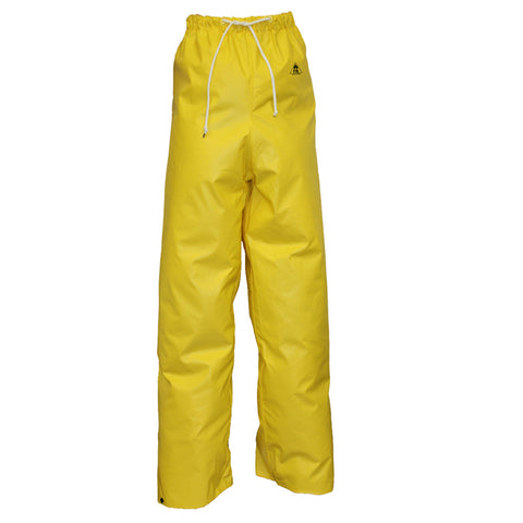 "Tingley 3X Yellow 32"" DuraScrim 10.5 mil PVC And Polyester Waterproof  Rain Pants With   -Price is per 1 Each"
