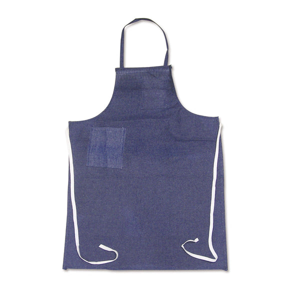 "Chicago Protective Apparel Size One Size Fits All 28"" X 36"" Blue Denim Apron With Waist Ties Closure"