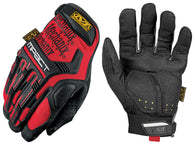 Mechanix Wear® X-Large Black And Red M-Pact® Full Finger Synthetic Leather Anti-Vibration Gloves With Hook And Loop Cuff