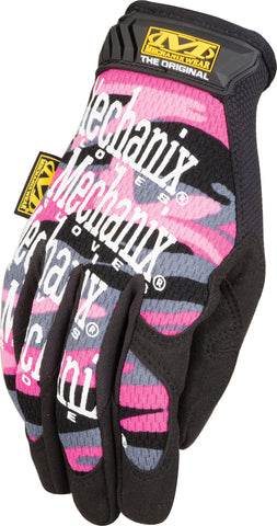 Mechanix Wear® Women's Medium Pink Camouflage The Original® Synthetic Leather And TrekDry® Full Finger Mechanics Gloves With Hook And Loop Cuff   -Price is per 1 Pair